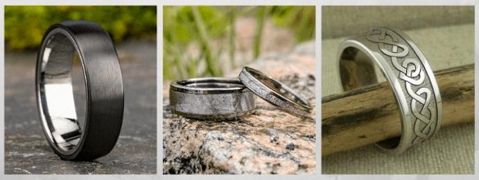 Модные обручальные кольца 2020 года. Титановые