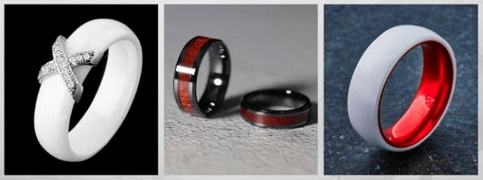 Модные обручальные кольца 2020 года. Керамические