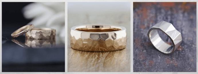 Модные обручальные кольца 2020 года. Граненые