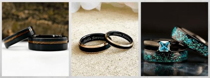 Модные обручальные кольца 2020 года. Черные