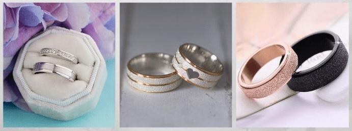 Модные обручальные кольца 2020 года. Парные