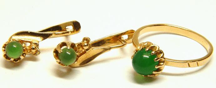 Лучшие украшения с нефритом в золоте