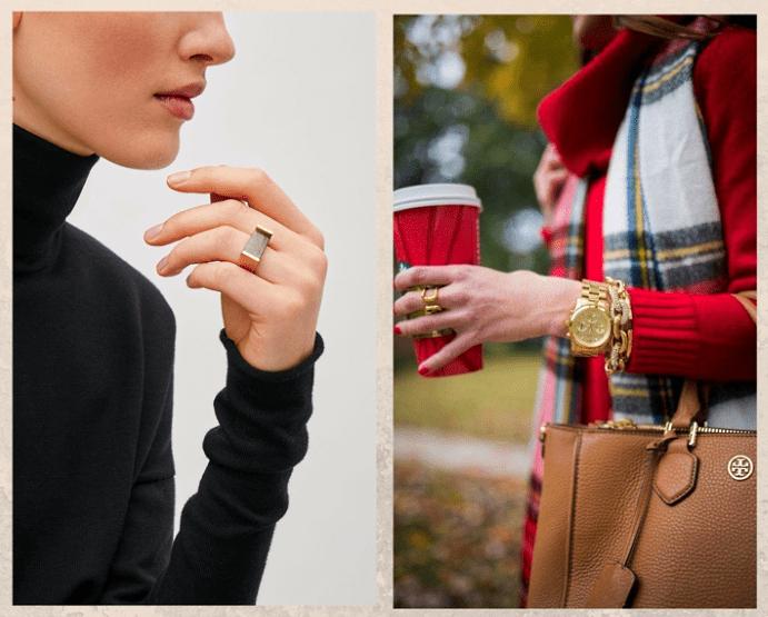 Как носить ювелирные украшения с водолазкой. Кольца и браслеты