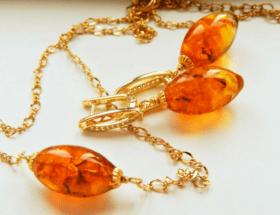 Золотые украшения с янтарем: особенности популярных изделий