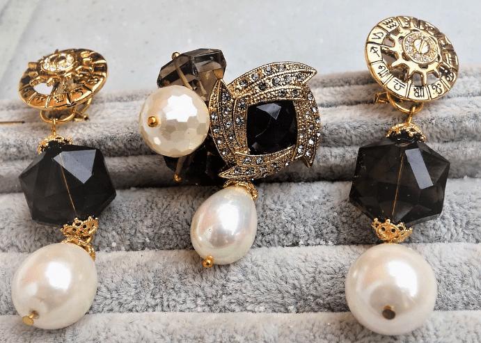 Набор украшений жемчуга в золоте