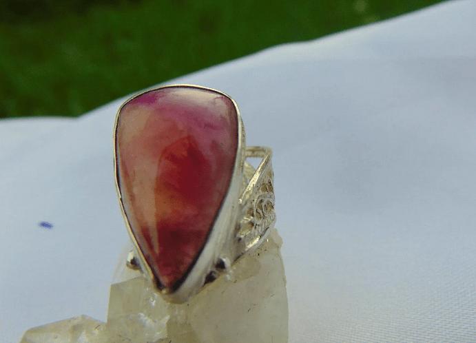 Украшения с арбузным турмалином. Перстень