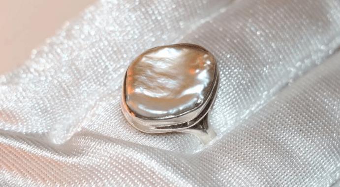 Украшения из барочного жемчуга. Кольцо