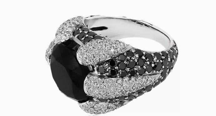 Украшения с черными бриллиантами. Перстень с черным бриллиантом