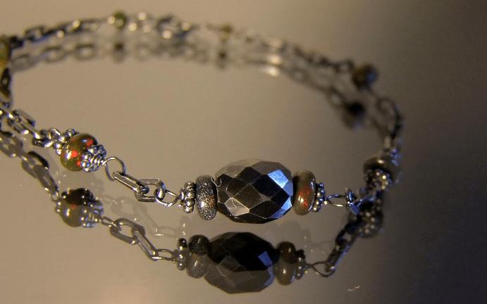 Украшения с черными бриллиантами. Браслет