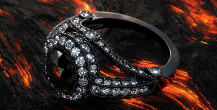 Украшения с черными бриллиантами. Черное кольцо