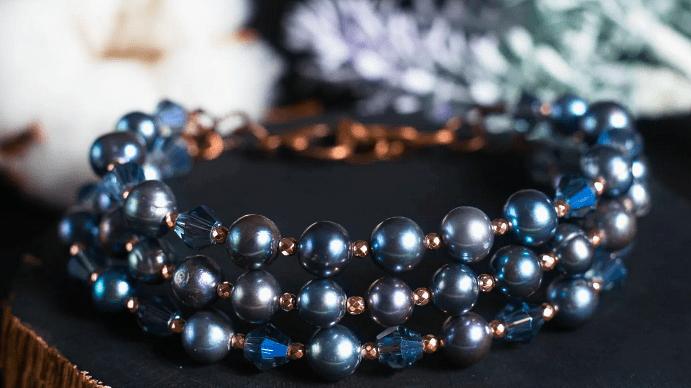 Черный жемчуг: виды украшений. Жемчужный браслет