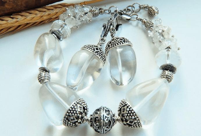 Выбор и уход за украшениями с горным хрусталем в серебре