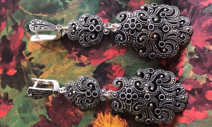 Уникальный марказит в украшениях из серебра