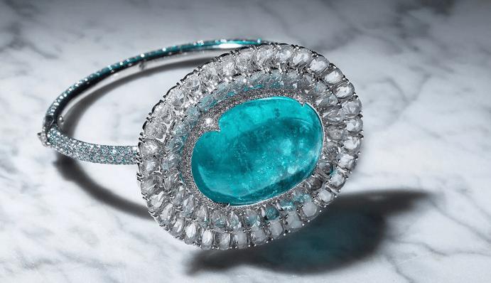 Разновидности турмалинов Параиба. Бриллиантовый перстень