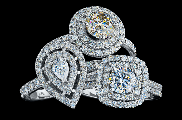 Ювелирные украшения с якутскими бриллиантами. Кольца