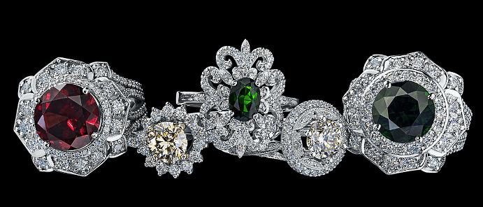 Ювелирные украшения с якутскими бриллиантами. Драгоценные камни в бриллиантовых ювелирных изделиях