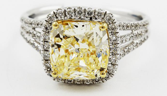 Виды и особенности украшений с желтыми бриллиантами. Кольцо перстень