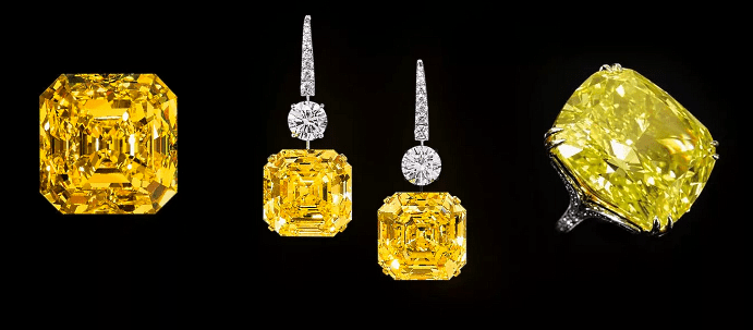 Виды и особенности украшений с желтыми бриллиантами. Желтые бриллианты, перстень, серьги