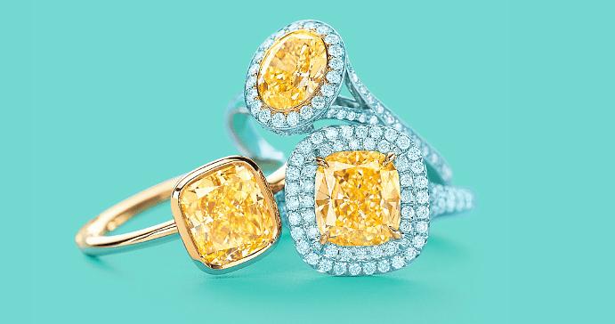 Виды и особенности украшений с желтыми бриллиантами. Кольца