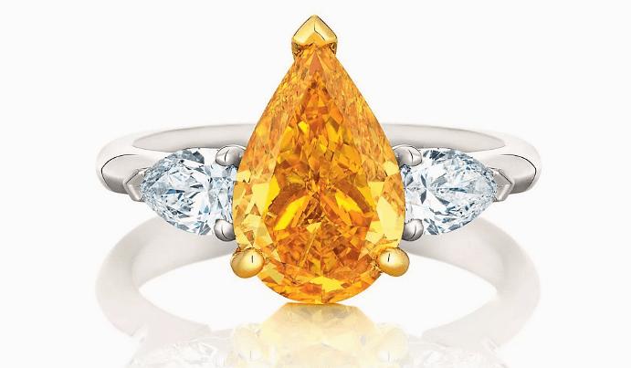 Виды и особенности украшений с желтыми бриллиантами. Перстень кольцо