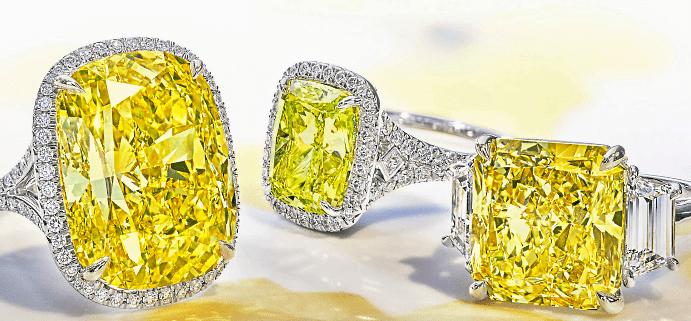 Виды и особенности украшений с желтыми бриллиантами. Кольца и перстни