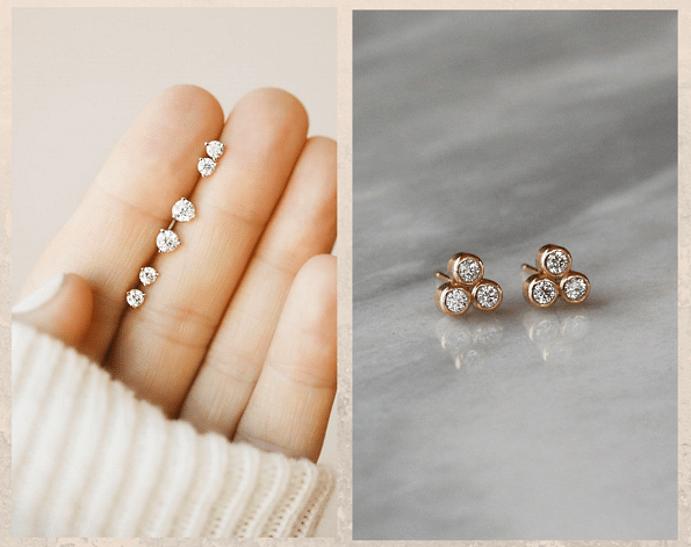 24 идеи ювелирных подарков к Новому году: маме, сестре, любимой. Пусеты с бриллиантами