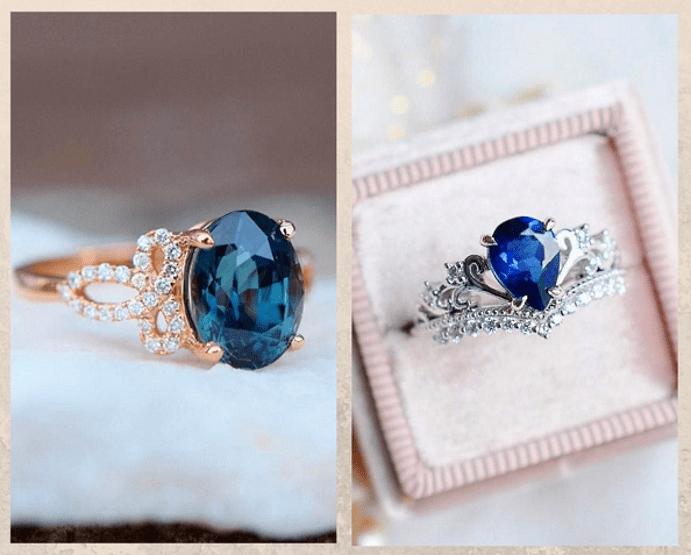 24 идеи ювелирных подарков к Новому году: маме, сестре, любимой. Перстень с сапфиром