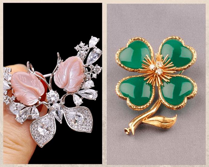 24 идеи ювелирных подарков к Новому году: маме, сестре, любимой. Брошь с самоцветами