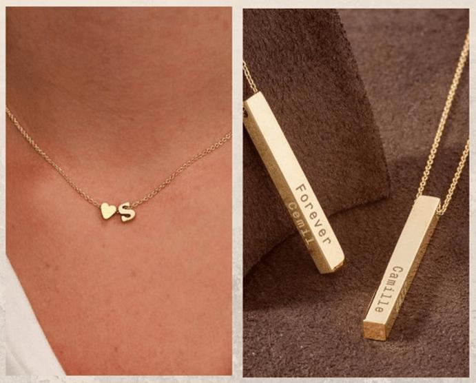 24 идеи ювелирных подарков к Новому году: маме, сестре, любимой. Кулон с именем