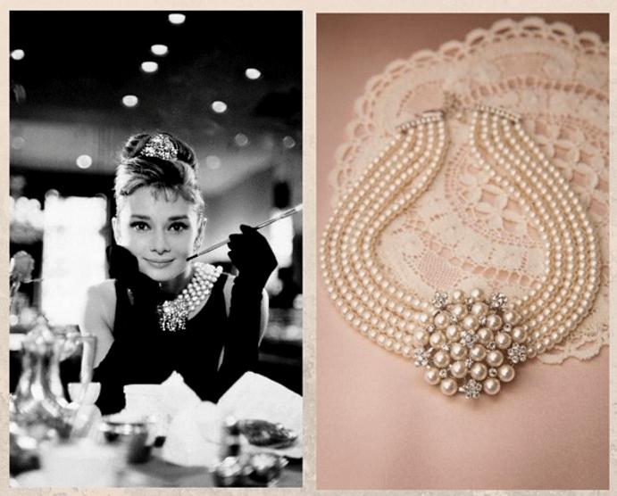 «Завтрак у Тиффани»: ожерелье с жемчугом и бриллиантами
