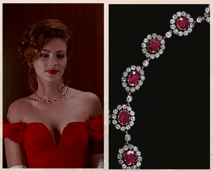 «Красотка»: ожерелье с рубинами и бриллиантами