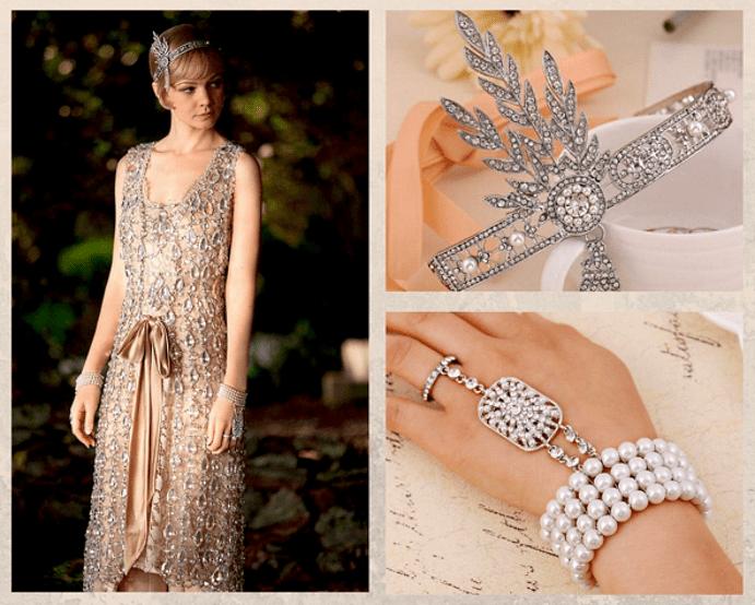 «Великий Гэтсби»: диадема и браслет с жемчугом и бриллиантами