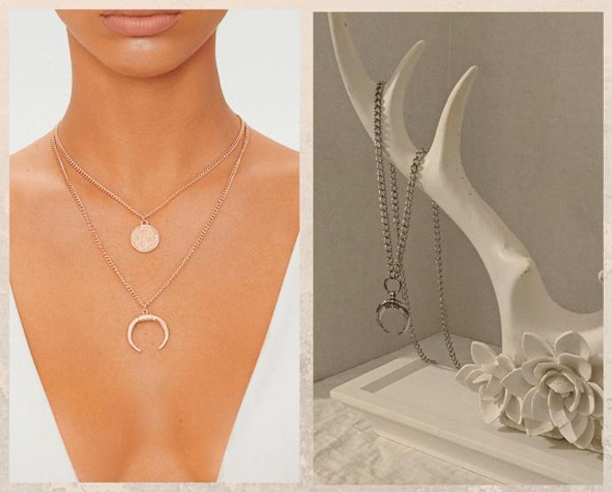 Ювелирные украшения с белым Быком. Колье и ожерелья