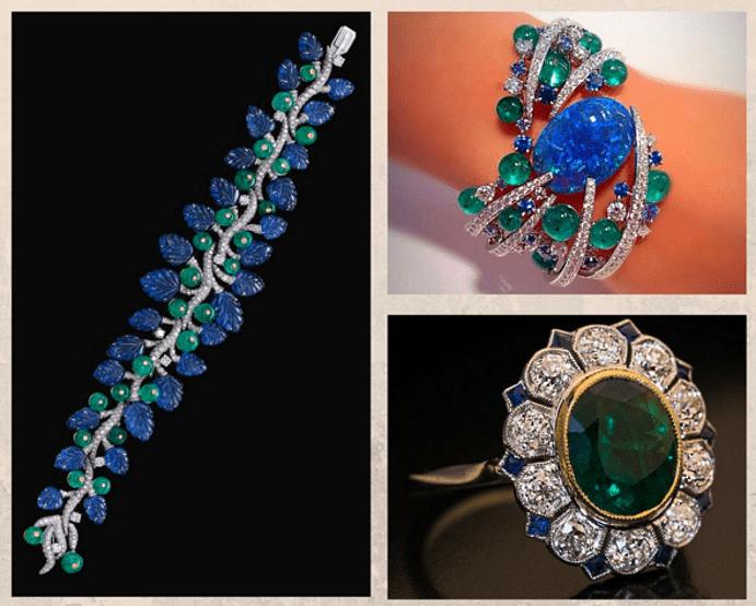 Как сочетать украшения с цветными камнями. Однотонные пары