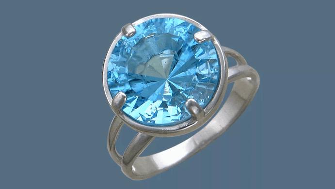 Украшения с топазом. Серебряное кольцо