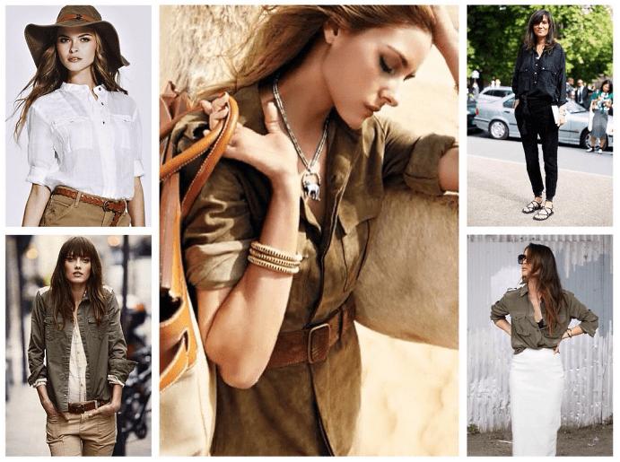 Одежда и украшения для девушек в стиле сафари