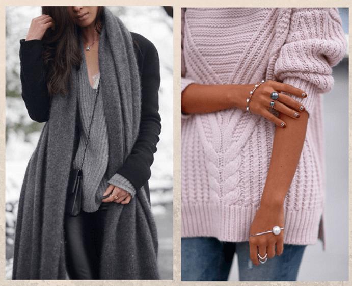 Какие украшения надевать зимой