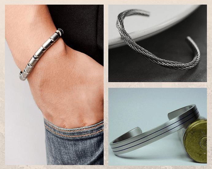 Модные мужские браслеты 2021 года. Титан