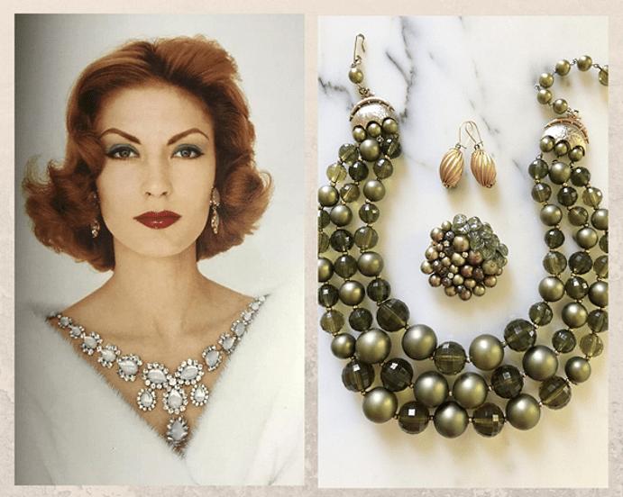 Украшения в стиле New Look : яркие краски 1950-х. Оформление