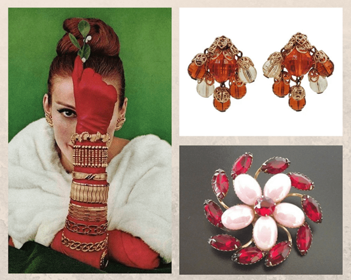 Украшения в стиле New Look : яркие краски 1950-х. Виды украшений