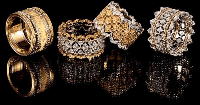Итальянские ювелирные украшения. Кольца из золота с бриллиантами