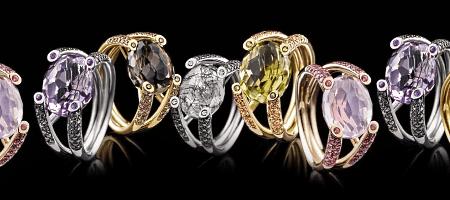 Итальянские ювелирные украшения. Кольца с драгоценными камнями из Италии