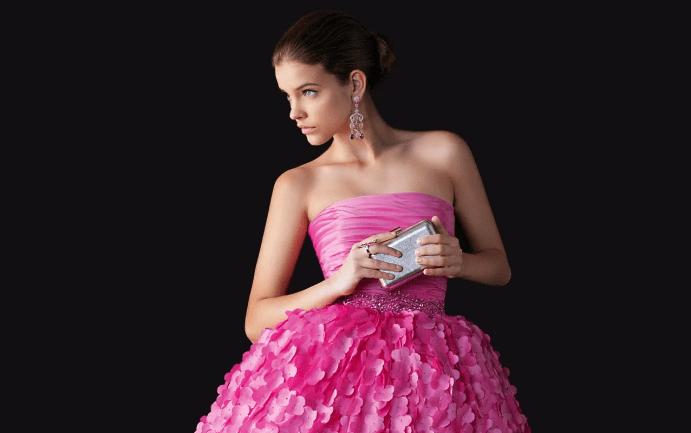 Украшения к розовому платью. Сережки