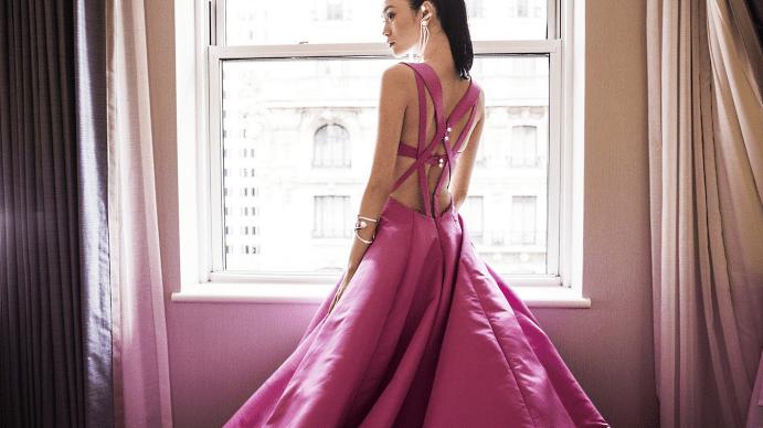 Украшения к розовому платью. Браслет и серьги