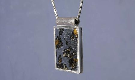 Украшения из метеорита: уникальные украшения. Кулон