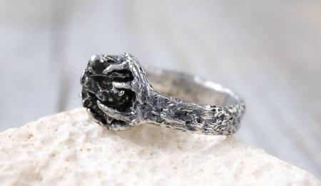 Украшения из метеорита: уникальные украшения. Кольцо