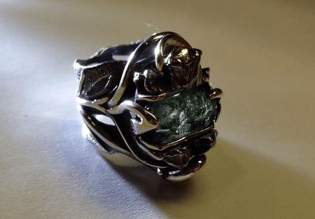 Украшения из метеорита: уникальные украшения. Перстень