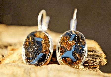 Украшения из метеорита: уникальные украшения. Сережки