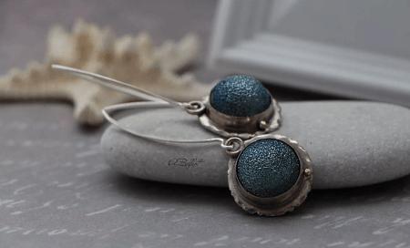 Украшения из метеорита: уникальные украшения. Серьги