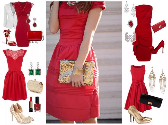 Подбор украшений к красному платью и других элементов создаваемого образа.